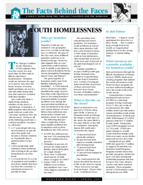 Youth Homelessness